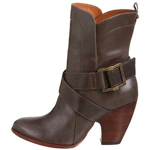 Frye 'Andrea' Mid-Calf Saddle Brown Leather Boots
